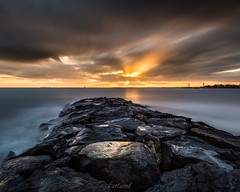 Stormy sunset (Gary Eastwood) Tags: sunset longexposure ndfilters cloudsstormssunsetssunrises clouds seascape sea seawall nisifilters nikond750 nikon