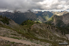 Switchbacks and Storm (kevin-palmer) Tags: northcascades nationalpark northcascadesnationalpark washington august summer evening nikond750 alpine forest pinetrees trail path switchbacks clouds cloudy tamron2470mmf28