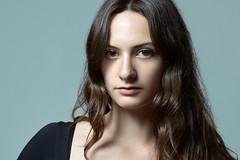Colin McMahon photography (CD McMahon) Tags: french woman female portrait portraiture eyes beauty beautiful hair studio shadow face nikon blue