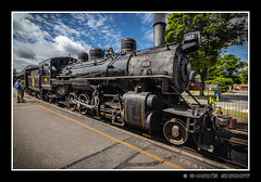 Steam_N_Coal (G-Mans Shadow) Tags: essex steam engine railroad riverboat connecticut river gillette castle coal sky blue bridge wide canon tokina canon77d canonef70200mmf4usm tokina1116 essexsteamtrainandriverboat essexsteamtrainriverboat valley beckythatcher deepriver chester landscape puffy cloud pullman open car soot shower bouy history bright digital