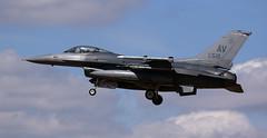 Buzzin' (crusader752) Tags: usaf usairforce 510thfs generaldynamics f16c viper 880516av buzzards finals raflakenheath