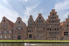 Lübeck, Germany (Ingunn Eriksen) Tags: lübeck germany canal unescoworldheritagesite unescoworldheritage architecture boat historicalbuilding nikond750 nikon hansestadt salzspeicherlager