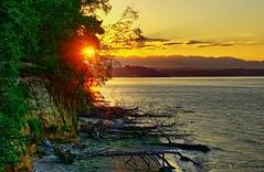 Sunset on Blake Island State Park (Keith L Kendrick) Tags: hdr highdynamicrange tonemap tonemapped keithkendrick keith kendrick tone map puget sound blake island landscape seascape sunset