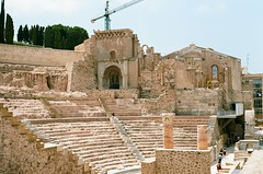 Roman Theatre, Cartagena 2 (BowmanJ30) Tags: kodakektar100 analog 35mm canonae1program cartagena spain filmphotography kodak ektar canon ae1 travel