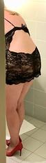 MyLeggyLady (MyLeggyLady) Tags: sex hotwife milf sexy teasing cleavage nobra nopanties stiletto cfm pumps red minidress lingerie legs heels
