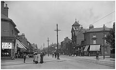 Coventry Road Birmingham Circa 1908. (obs,0277) (geoff7918) Tags: coventryroad whitmoreroad jenkinsstreet grangeroad ladies cyclist fishmonger bedshop tramcars worldwarii