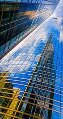 Reflet (L'Abominable Homme de Rires) Tags: ladéfense skyscraper gratteciel immeuble building igh paris canon5d 5dmkiii sigma 24105mmf4 dxo photolab lightroom blue bleu abstract iledefrance reflection urban grandangle