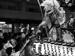 Touch Hands (Polylepis) Tags: festival japan hachioji matsuri tokyo blackandwhite dance mask drums sonnar5518za zeiss yokai oni sonnartfe1855 dashi float devil demon lantern musician dancer children blessing mono monochrome matsuribayashi taiko daiko hannya