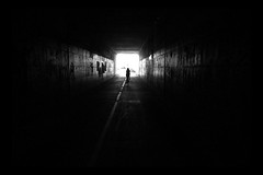 Into The Light - A Cliche (Modkuse) Tags: abstract photoart monochrome bw blackandwhite contrast cyclist