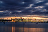 Auckland Sunset-5 (Alex Ignatov) Tags: auckland hdr newzealand boat city cityscape cloud evening landscape night ocean sea seascape sky sunset nz