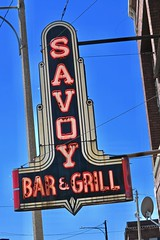 Savoy Bar & Grill, Saginaw, MI (Robby Virus) Tags: saginaw michigan mi savoy bar grill neon sign signage diner food restaurant