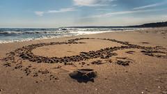 heart of Glowe / Rügen (drummerwinger) Tags: rot beach clouds rügen wolken sigma canon80d ostsee herz heart wasser