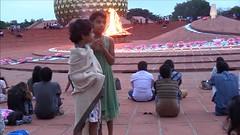 decorations_244fire (Manohar_Auroville) Tags: auroville sri aurobindo gathering amphitheatre matrimandir bonfire dawnfire birthday manohar luigi fedele
