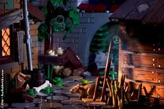 Back alley ghost (Foolish Bricks) Tags: lego legophotography toyphotography legography minifigures afol ghost back alley dark rat