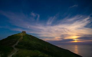 Rame Head Moonset