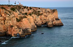 Ponta da Piedade (tonyfernandezz) Tags: portugal rockformation cliff arch coast wave lighthouse algarve