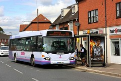 Scania Omnicity on the 104 (Chris Baines) Tags: first omnicity yn06 tdz colchester harwich manningtree 104 service