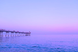 The pink hour: Between sunset and nightfall