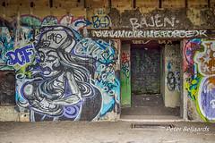 Graffiti in German WW2 bunker IJmuiden Netherlands (Peter Beljaards) Tags: graffiti ww2bunker ijmuiden netherlands german todt organisationtodt lost abandoned secondworldwar ww2 festungijmuiden atlanticwall nikon2485mmf3545