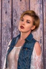 Hollywood Helen (fstop186) Tags: helen girl denim lace beautiful blonde barn timber boarding eyes sultry portrait attitude