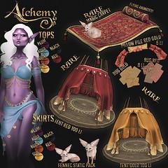 Alchemy @ Lootbox (Dani @ Birdy/Foxes/Alchemy) Tags: sl secondlife alchemy fantasy magic carpet tent mesh lootbox