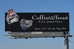 Coffin & Trout Fine Jewellers billboard - Santan Freeway Loop 202, Chandler, AZ (azbillboard) Tags: billboard billboards advertising az arizona ahwatukee bulletin chandler freeway gilbert azbillboard i10 101 202 maricopa scottsdale tempe mesa phoenix ooh kyrene mcclintock impressions 85226 85224 85225 85286 85284 85283 85044 85048 85042 transportation road city car sign display ad advertisement advertise santan coffintrout jewellers jewelry rings