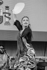 Dancer at the 2018 LatinoFest in Baltimore (Bill A) Tags: arteflamenco latino blackandwhite blackandwhiteportrait flamenco latinofestival latinofest dancer blackandwhitephotography