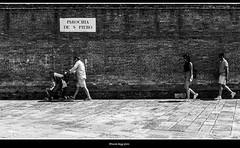 disperata ricerca dell'ombra (magicoda) Tags: italia italy magicoda foto fotografia venezia venice veneto biancoenero blackandwhite bw bn fuji fujifilm mirrorless x100 x100t maggidavide davidemaggi 2018 passione passion pano panorama luce light emozione streetlight emotion sole sun candid voyeur donna women upskirt famiglia family castello shadow ombra bambino baby muro wall