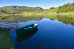 Watendlath Tarn (Nige H (Thanks for 12m views)) Tags: nature landscape lake water tarn boat rowingboat lakedistrict cumbria england watendlathtarn nationaltrust reflection fells cumbrianfells