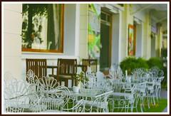 The café in front of Hotel Continental Saigon (Jolie ♪ (on/off)) Tags: yashinondx4517 yashinon vintagelens manualfocus café saigon vietnam asia southeastasia hotelcontinentalsaigon vintage retro filmtone 108231°n1066297°e