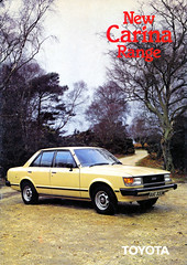 TA60 TA62 TOYOTA CARINA UK RANGE 1981 (celicacity) Tags: ta60 ta62 toyota carina dlx gl 0000090207br aug 81 range brochure 1981