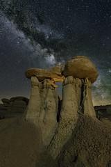 DSC0353_edit (davidmcqueenphoto) Tags: badlands bistibadlands newmexico milkyway astrophotography landscapeastrophotography nightscape hoodoo pinkston waynepinkston starrynight waynepinkstoncom
