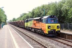 70810 - 6V54. (Andy.Parkinson) Tags: 70810 6v54 baglanrailwaystation colasrailfreight class70 ksa iwa