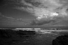 "FOZ Galicia n1 (L. Vital [www.linovital.com]) Tags: art black blackandwhite bw clouds europe landscape light lino ""lino vital"" nature photo photography photos rock sea sky spain vital water"