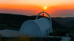 Sunset (nikman.) Tags: kythnos cyclades greece nikman sony a6000 sigma lens 18125mm hdr sunset golden hour orange church sea