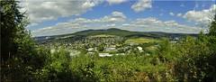my home... (friedrichfrank1966) Tags: panorama pano nature city town clouds blue scenery summer green forest wälder mountains berge nikon d90 24105 sigma trekking wanderungen hometown heimat