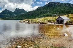 Cradle Mountain. (taszee63) Tags: tasmania cradlemountain hdr 3xp dovelake water mountain longexposure boatshed boathouse
