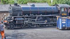 LNER B1 No.1264, Grosmont Shed, NYMR, 24 July 2018 (simage61) Tags: transportation railway heritage nymr locomotive steam lner 460 thompson b1 1264 grosmont yorkshirenorth englandnorth