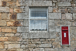 Window, wall and out-of-service postal box