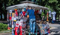 2018 - Serbia - Belgrade - Kalemegdan Park (Ted's photos - For Me & You) Tags: 2018 belgrade cropped nikon nikond750 nikonfx serbia tedmcgrath tedsphotos vignetting kalemegdanpark kalemegdanparkbelgrade belgradeserbia ballcap denim denimjeans umbrella canopy red redrule