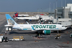 Frontier Airlines / Airbus A320-251N / N331FR at Denver International Airport (DEN) (Angel Moreno Photography) Tags: frontierairlines airbusa320251n n331fr denverinternationalairport den airpoert denver colorado aircraft airplane plane tarmac sky delta