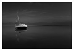 Be Still (bprice0715) Tags: canon canoneos5dmarkiii canon5dmarkiii landscape landscapephotography nature naturephotography blackandwhite bw blackwhite monochrome mono moody dark darksky highcontrast lowkey sailboat boat ocean water reflection capecod pointofrocksbeach