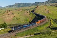 Bozeman Pass (Nolan Majcher) Tags: mrl montana rail link emd sd70ace livingston mt bozeman pass grain train