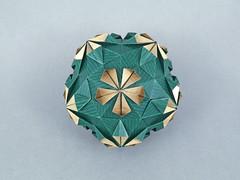 Porrima (masha_losk) Tags: kusudama кусудама origamiwork origamiart foliage origami paper paperfolding modularorigami unitorigami модульноеоригами оригами бумага folded symmetry design handmade art