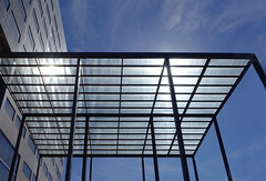 Hotel marquee (chrisk8800) Tags: hotel marquee glass facade architecture structure lines pattern barcelona geometric reflections