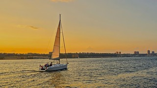 Sunset sailing on the Hudson - New York City