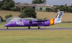 G-FLBC Flybe Bombardier Dash 8 Q400 @ Exeter Airport, Devon. (PS Photogaraphy) Tags: gflbc flybe bombardier dash 8 q400 exeter airport devon flight flying landing takeoff sky runway airfield avgeek airplane planes