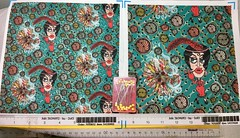 """""""Art Deco Flapper Fantasy"""", large and small scale fabric test swatches. My original design, hand drawn digitally. Created for a fabric design contest with a 1920's theme. (sassyone2013) Tags: flapper flappers 1920s fabric textiles indie wallpaper illustration drawing digitalart textiledesign giftwrap giftwrapping indiefabrics indiefabric artdeco artmoderne cartoon animation green red dot dots dotfabric female females women woman beautifulwomen fashion styles feminine girl girls unusualfabrics indieart handdrawn sewing quilting fabriccrafts fabriccrafting patterns whimsical quirky cartoons illustrations fashionista"""