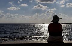 Silhouette 20170930_0387 (ronniefleming@btinternet.com) Tags: paphos cyprus mediterraneansea harbour sea waves clouds blueskies ph31fy silhouette