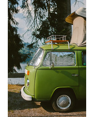 Camping at the Titisee (freyavev) Tags: t2 vw volkswagen bus camper camping green vehicle vertical titisee titiseeneustadt schwarzwald blackforest nature germany deutschland badenwürttemberg mikasniftyfifty vsco canon canon700d outdoor